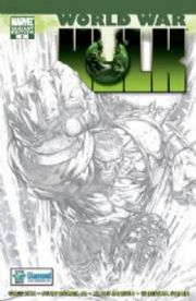 World War Hulk #1 Diamond Sketch Variant Marvel comic book